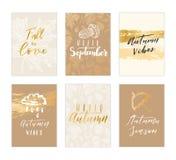 Raccolta della carta di autunno Fotografie Stock Libere da Diritti