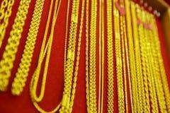 Raccolta della collana dorata Immagini Stock Libere da Diritti