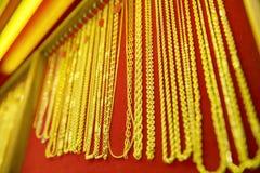 Raccolta della collana dorata Immagine Stock Libera da Diritti