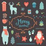 Raccolta della decorazione di Natale Immagini Stock Libere da Diritti