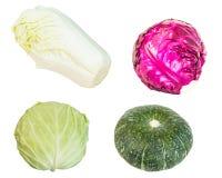 Raccolta della fine della verdura su isolata su bianco Fotografie Stock