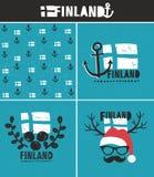 Raccolta della Finlandia delle etichette Fotografia Stock