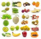 Raccolta della frutta isolata su bianco Immagini Stock