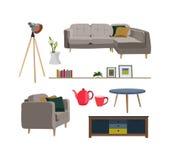 Raccolta della mobilia Fotografia Stock Libera da Diritti