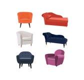Raccolta della mobilia Fotografia Stock