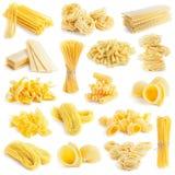 Raccolta della pasta isolata su bianco Fotografia Stock