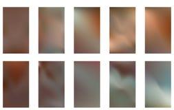 Raccolta della pendenza astratta Mesh Futuristic Vector Backgrounds Progettazione moderna di vettore dello schermo per il cellula illustrazione di stock