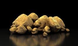 Raccolta della pepita di oro Immagini Stock Libere da Diritti
