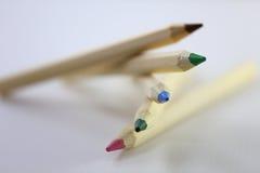 Raccolta della pila della matita di colore Immagini Stock