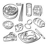 Raccolta della prima colazione illustrazione di stock