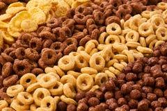 Raccolta della prima colazione dei cereali Fotografia Stock