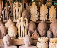 Raccolta della scultura dell'arenaria in Cambogia Fotografie Stock Libere da Diritti