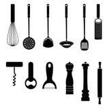 Raccolta della siluetta dello strumento della cucina dell'utensile illustrazione vettoriale