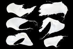 Raccolta della spruzzata del latte immagine stock