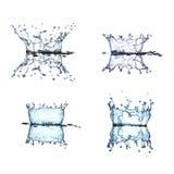 Raccolta della spruzzata dell'acqua Fotografie Stock Libere da Diritti