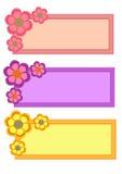 Raccolta della struttura del fiore Fotografie Stock Libere da Diritti