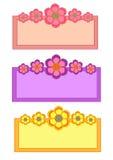 Raccolta della struttura del fiore Fotografia Stock