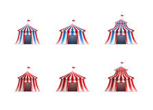 Raccolta della tenda di circo Immagine Stock