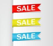 Raccolta della vendita, insegne, etichette, etichette, Tally Emblems, carte, progettazione piana Vettore illustrazione di stock