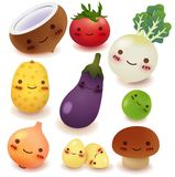 Raccolta della verdura e della frutta Immagine Stock