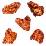 Raccolta delle ali di pollo Immagine Stock