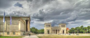 Raccolta delle antichità e di Propylaen a Monaco di Baviera Fotografia Stock Libera da Diritti