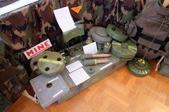 Raccolta delle armi e delle attrezzature utilizzate durante la guerra per indipendenza croata, Pakrac, Croazia Fotografia Stock Libera da Diritti
