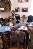 Raccolta delle armi e delle attrezzature utilizzate durante la guerra per indipendenza croata, Pakrac, Croazia Immagini Stock