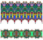 Raccolta delle bande floreali ornamentali senza cuciture Immagine Stock Libera da Diritti