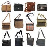 Raccolta delle borse degli uomini Fotografia Stock