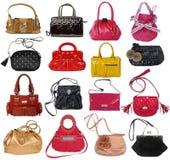 Raccolta delle borse delle donne Fotografia Stock