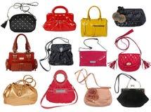 Raccolta delle borse delle donne Immagini Stock Libere da Diritti