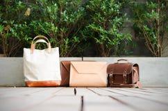 Raccolta delle borse di cuoio Fotografie Stock Libere da Diritti