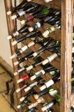 Raccolta delle bottiglie di vino Immagine Stock