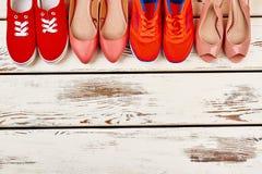 Raccolta delle calzature del ` s delle donne Fotografia Stock Libera da Diritti