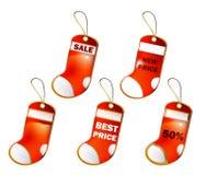 Raccolta 2 delle calze di Natale Immagini Stock