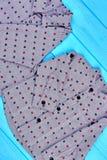 Raccolta delle camice punteggiate tralicco per i neonati Fotografie Stock