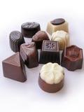 Raccolta delle caramelle di cioccolato isolata Immagini Stock Libere da Diritti