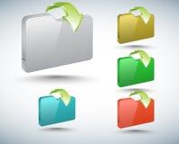 raccolta delle cartelle 3d Fotografia Stock