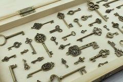 Raccolta delle chiavi antiche Immagine Stock Libera da Diritti