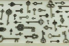 Raccolta delle chiavi di antiquariato Fotografia Stock