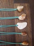 Raccolta delle collane di boho della spiaggia Fotografia Stock Libera da Diritti