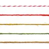 Raccolta delle corde su fondo bianco Immagini Stock
