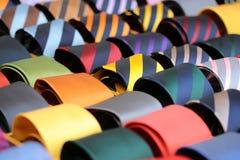 Raccolta delle cravatte da vendere Immagine Stock