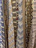 Raccolta delle cravatte di seta Immagine Stock