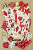 Raccolta delle decorazioni di Natale Immagini Stock Libere da Diritti