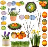Raccolta delle decorazioni di Pasqua Immagini Stock