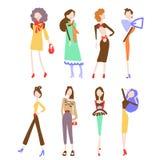 Raccolta delle donne di modo illustrazione vettoriale