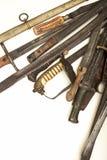 Raccolta delle else di vecchi spade e pugnali Fotografia Stock Libera da Diritti