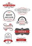 Raccolta delle etichette d'annata del vino Immagini Stock Libere da Diritti